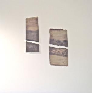 singed ash, grey dye, 2013. 00cm x 00cm